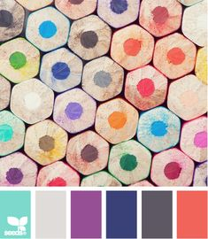10- These colors make me happy and the photo is heaven to me. Be inspired to create something beautiful either inspired by the palette or the shapes. - 2 pts