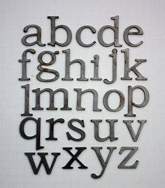 Small Metal Initials Metal Letters Freestandinginitialsalphabet Az Signageempire On