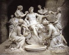 'Apollon and the Nymphs', Marble by François Girardon (1628-1715, France)