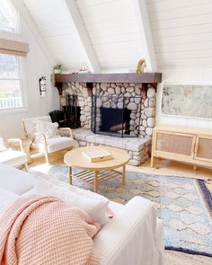Light and bright Family Room, Loft, Fireplaces, Bed, Donuts, Bright, Furniture, Home Decor, Instagram