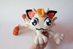 Crochet PATTERN  Meowth cat pokemon pattern by Krawka by Krawka $5.41