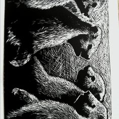 Scratch art by Amy Otremba