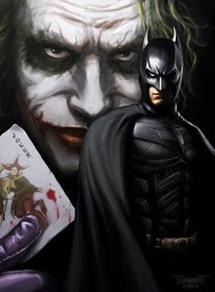The Dark Knight... Batman and the joker