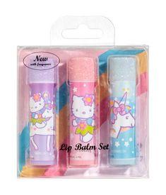 3-pack läppbalsam med doft   Ljusrosa/Hello Kitty   BARN   H&M SE