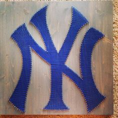 These handmade string art sports logos are a perfect way to show your team pride. This is a great addition to sports fanatics collections, man caves etc. Both pro and college football logos available upon request. Each piece of premium wood is not your traditional plywood, it is solid