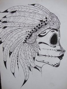 native sugar skull by oceangrownkreations on deviantART