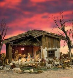Traditional cribs Six festively beautiful crib models to replicate Build cribs yourself – an old custom that is sti Diy Nativity, Christmas Nativity Scene, Christmas Art, Nativity Scenes, Christmas Crib Ideas, Christmas Pictures, Christmas Decorations, Diy Crafts To Do, Diy Arts And Crafts