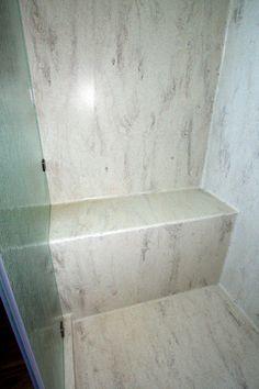 corian seamless shower bench u0026 pan