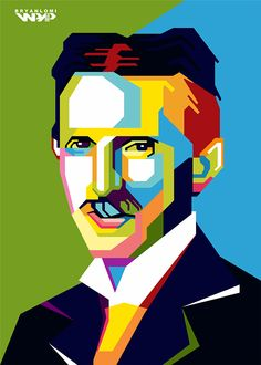 Nikola Tesla in WPAP by Bryan Lomi