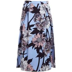 Miss Selfridge Graphic Floral Cotton Skirt, Multi (€22) ❤ liked on Polyvore featuring skirts, miss selfridge skirts, pleated a line skirt, cotton a line skirt, floral cotton skirt and a-line skirts