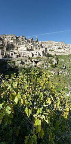 The ancient town of Matera, Basilicata, Italy.