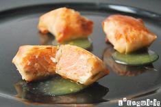 Crujientes de salmón con crema de naranja | L'Exquisit