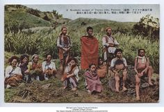 Kusshaku savages of Taiyaru group (Atayal tribe), Formosa, 1903