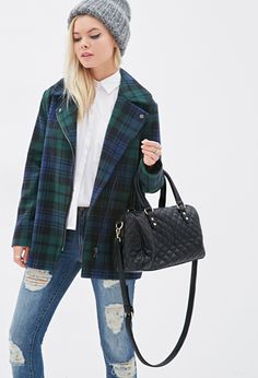 Quilted Faux Leather Satchel | FOREVER21 - 1000136747