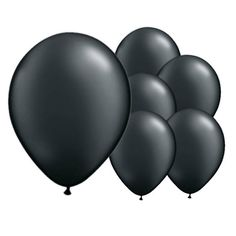 Ink Black Latex Balloons – 12 Inches / 30cm – Pack of 50