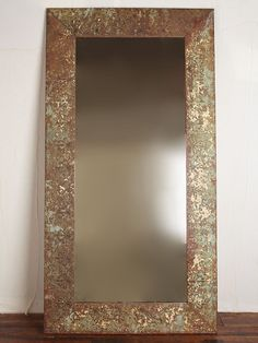 West Elm Antique Tiled Floor Mirror - Clear - Decorative Mirrors ...