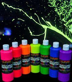 BLP1116 UV Splash™ Washable Fluorescent Neon Party Paint - 1 Pint