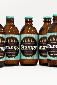 Stumpy organic iced coffee packaging by Alex Westgate