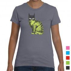 Super cute Batman Cat Women's T-Shirt. Available in over 40 colours!