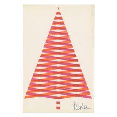 By Alan Fletcher Christmas Gift Box, Christmas Greetings, Holiday Cards, Christmas Cards, Holiday Decor, Yale School Of Art, Christmas Graphic Design, New Year Postcard, Minimal Christmas
