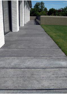 Płyty wielkoformatowe (SOCHO, 50², MEGATON) od Buszrem Concrete, Sidewalk, Design, Farmhouse Ideas, Home Decor, Google, Gardens, Travertine, Swimming Pools