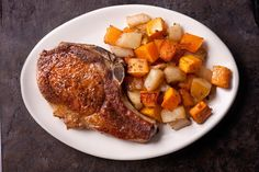 Roasted Butternut Squash with Pears (with or without Baked Pork Chops) - Chowhound