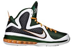 premium selection 7e0f0 a4ce2 Buy Nike Lebron 9 Miami Hurricanes White White Grg Green Ttl Orng Cheap  from Reliable Nike Lebron 9 Miami Hurricanes White White Grg Green Ttl Orng  Cheap ...
