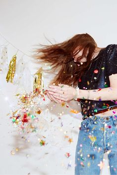 Crazy over these fun and festive party images from Urban Outfitters of our Thimblepress Push Pop Confetti!