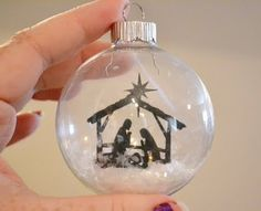 So cute! Making ornaments like this is cheap, and make great gifts!