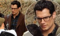 Henry Cavill gets into character as Clark Kent for Batman v Superman #DailyMail