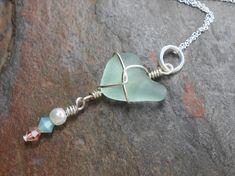 Sea+Glass+Necklace+Beach+Glass+Jewelry++CROSS+MY+by+SeaFindDesigns