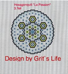 "Grit's Life: Part 3 Hexagon Quilt ""La Passion"""