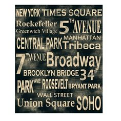 Recreate this with street names of favorite places.