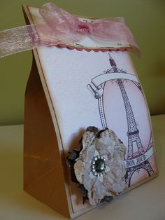 Set of 3 Gift Bags  Pretty Pink by littlepeaceofmyheart on Etsy, $7.25