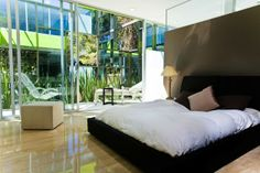 bedroom - Reflective Apartment Building in Mexico