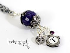 "Tell your Story with bcharmed's gorgeous ""Amethyst Tibetan Silver Carrier"". www.bcharmed.com"