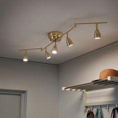 BAROMETER Ceiling track, 5-spots - brass color - IKEA