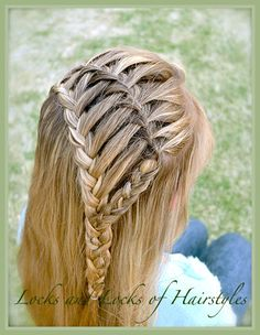 must to try! Braided Hairstyles: Waterfall & Lace Headband...