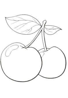 Obst zum ausmalen obst gem se pinterest obst ausmalen und obst und gem se - Herbstblatter deko ...