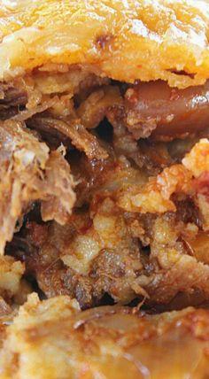 Leftover Mexican Style Crock Pot Chuck Roast Enchiladas ^