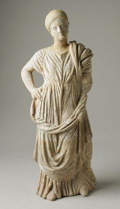 Standing Female Greece, early 3rd century B.C. Sculpture Terracotta
