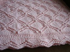 Beautiful knitted baby blanket
