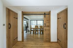Make sure you get the doors that will best suit your needs and the interior doors can enhance or blemish the look of your home. Wood doors can adorn your house as it has natural variations of color and grain make wood is one of the best material for home. Wooden Sliding Doors, Internal Wooden Doors, Custom Wood Doors, Wooden Windows, Frosted Glass Interior Doors, Interior Barn Doors, Exterior Doors, Craftsman Interior, Rustic Exterior