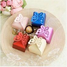 diseño de mariposa 200pcs/lot favores de la boda caja a favor caramelos de papel caja de embalaje caja de regalo al por mayor(China (Mainland))