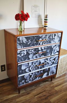 Decoupage photo furniture