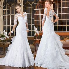 2015 Sexy Plus Size Wedding Dresses For Arabic Saudi Arabian Curvy Womens Hot Sale Cheap Long Sleeves Vintage Mermaid Bridal Gowns Vestidos Online with $157.57/Piece on Sarahbridal's Store | DHgate.com
