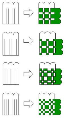Paper weaving hearts