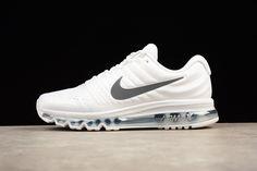 low priced ae213 7e27b New Nike Air Max 2017 Women Running Shoes White Black Tick