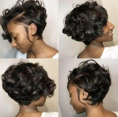 Side-swept-Bob Best Short Hairstyles for Black Women 2018 – 2019 - Bob Hairstyles - Hair Curly Bob Hairstyles, Trending Hairstyles, Short Hairstyles For Women, Straight Hairstyles, Girl Hairstyles, Curly Hair Styles, Natural Hair Styles, Black Hairstyles, Pretty Hairstyles