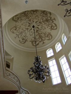 Hand-Painted Design in Dome and Gorgeous Plaster on the Walls   Anything But Plain